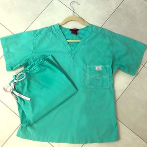 Blue Sky Scrubs Set Carnegie Green Size Small